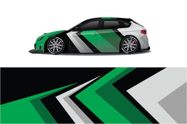 Ontwerp met sticker voor sportwagen