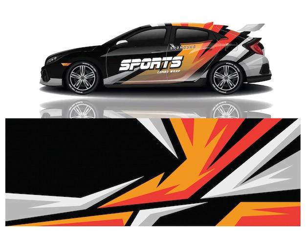 Ontwerp met sticker voor sportwagenverpakking