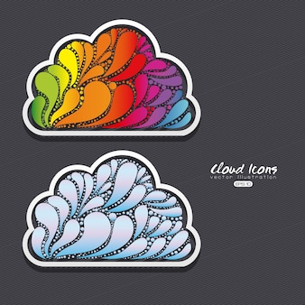 Ontwerp met wolken