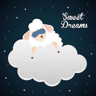 Ontwerp met zoete dromen.