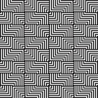 Ontwerp met zwart-wit geometrisch patroon