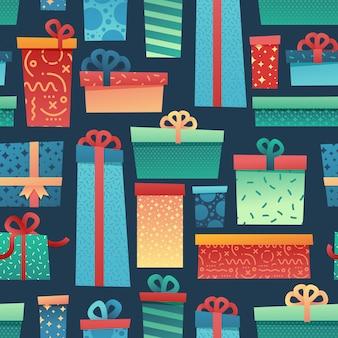Ontwerp naadloos patroon voor kerstmisachtergrond en inpakpapier