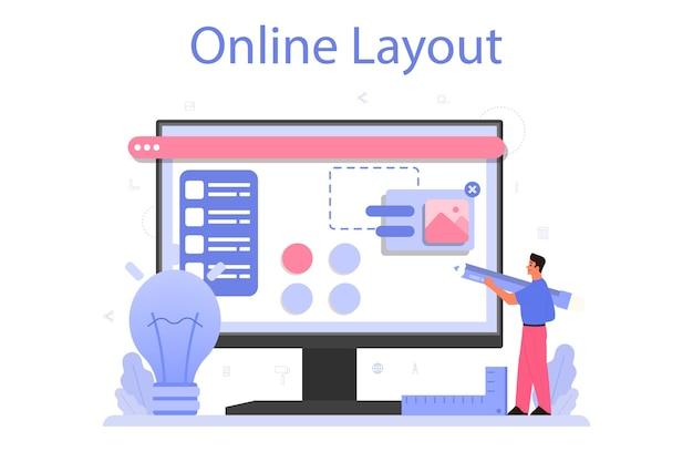 Ontwerp online service of platform.
