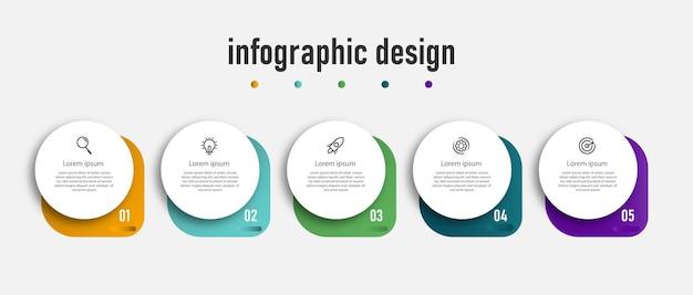Ontwerp presentatie zakelijke infographic elementsjabloon