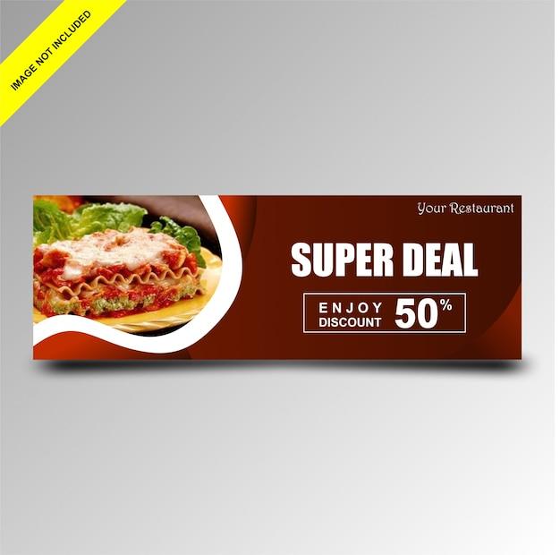 Ontwerp promotionele banners voor restaurants