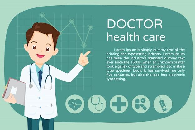 Ontwerp slimme arts presentatie achtergrond