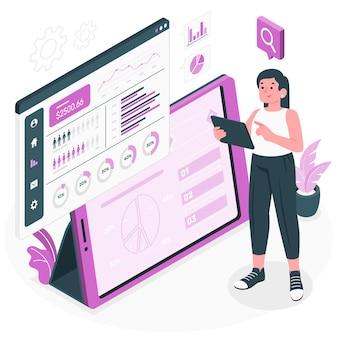 Ontwerp statistieken concept illustratie