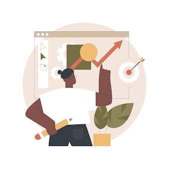 Ontwerp strategie illustratie