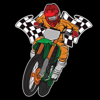 Ontwerp supermoto race race