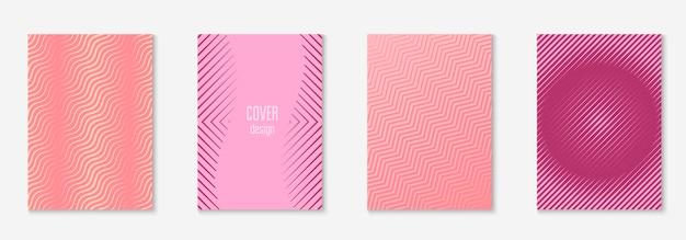 Ontwerp tijdschriftomslag als sjabloon met geometrische lijnelement.