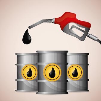 Ontwerp van aardolie- en olieprijzen.