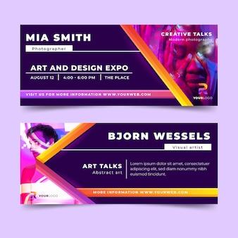 Ontwerp van banners voor verloop van kunstexpo