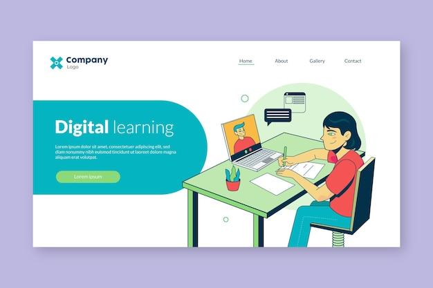 Ontwerp van bestemmingspagina's voor online leren