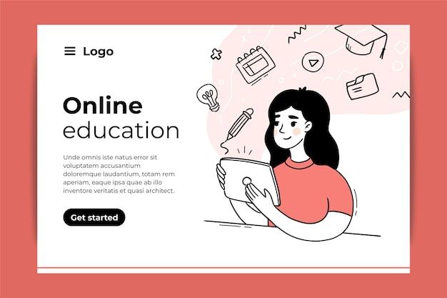 Ontwerp van bestemmingspagina voor online onderwijs
