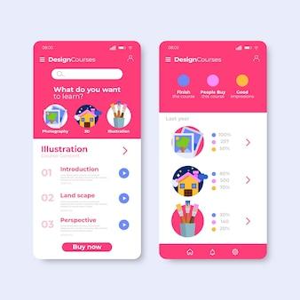 Ontwerp van cursus-apps
