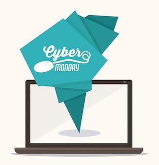 Ontwerp van cyber monday