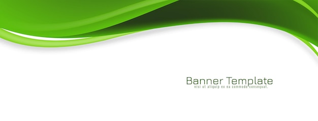 Ontwerp van de abstracte groene golf stijlvolle banner