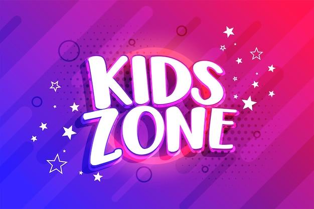 Ontwerp van de achtergrond van de entertainmentzone voor kinderen