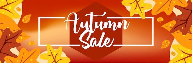 Ontwerp van de banner van de herfst verkoop