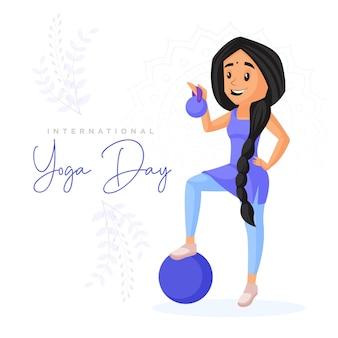 Ontwerp van de banner van de internationale yoga dag