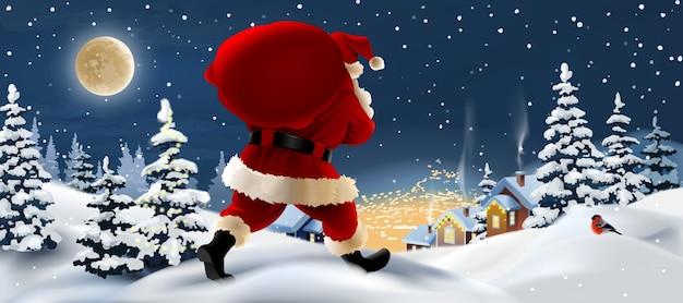 Ontwerp van de banner van de kerstman