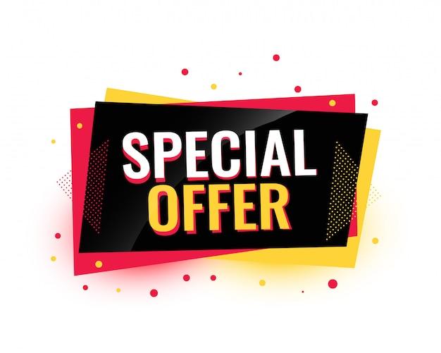 Ontwerp van de banner van de speciale aanbieding het creatieve verkoop