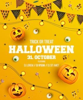 Ontwerp van de banner van het thema van halloween
