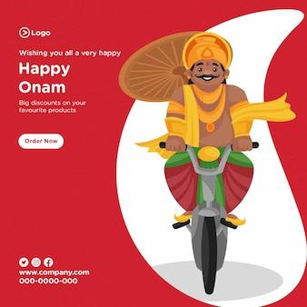 Ontwerp van de banner van het zuid-indiase onam festival