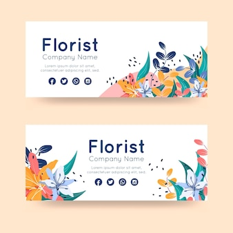 Ontwerp van de banners van het bloemistbedrijf