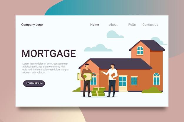 Ontwerp van de bestemmingspagina van een hypotheek