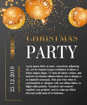 Ontwerp van de de groetkaart van de kerstmispartij
