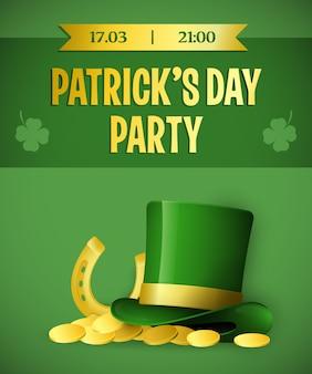 Ontwerp van de de partij het groene banner van patricks day