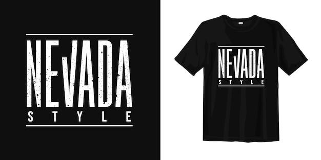 Ontwerp van de de stijl het grafische typografische t-shirt van nevada