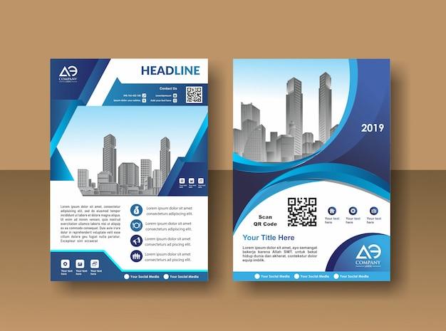 Ontwerp van de dekking poster a4 catalogus boek brochure flyer lay-out jaarverslag zakelijke sjabloon