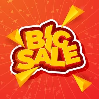 Ontwerp van de grote verkoopbanner. vector illustratie