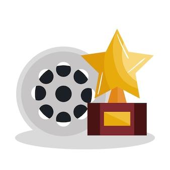 Ontwerp van de het pictogram het vectorillustratie van filmvermaakelementen