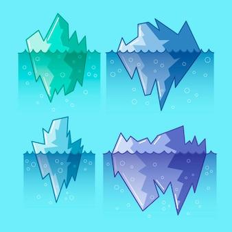 Ontwerp van de ijsbergcollectie