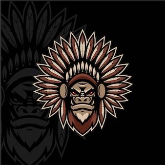Ontwerp van de mascotte van indiase stammen