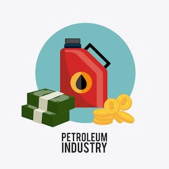 Ontwerp van de olie-industrie.