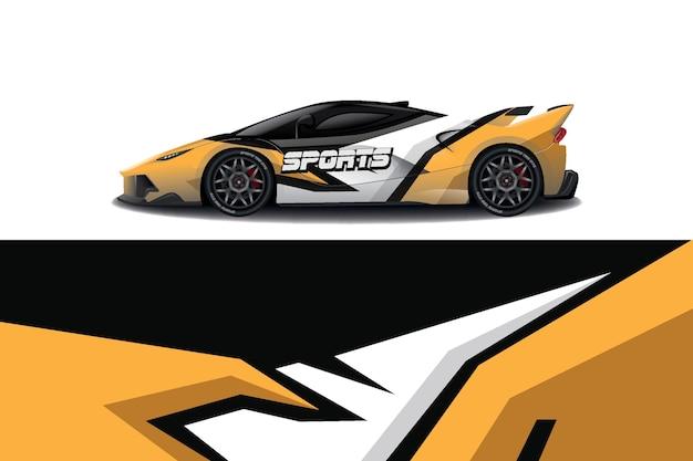 Ontwerp van de omslag van het embleem van de auto van de sport