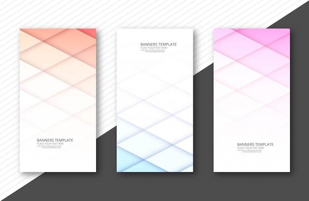 Ontwerp van de papercut het kleurrijke bannerreeks