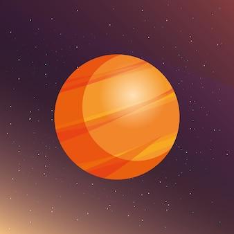 Ontwerp van de ruimtevaart planeten