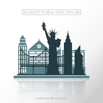 Ontwerp van de skyline van new york