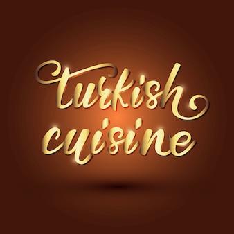 Ontwerp van de turkse keuken belettering banner