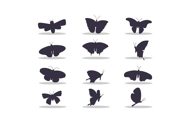Ontwerp van de vectorillustratie van het vlindersilhouet