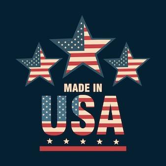 Ontwerp van de vs van de vlag het verenigde staten