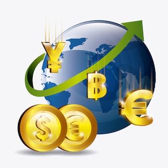 Ontwerp van de wereldeconomie.