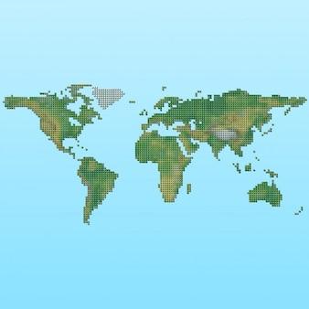 Ontwerp van de wereldkaart