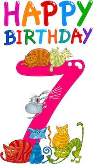 Ontwerp van de zevende verjaardag