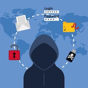 Ontwerp van digitale fraude en hacking